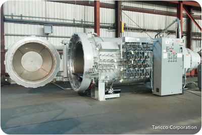 4 ft. Diameter x 10 ft. length Taricco Corporation new autoclave