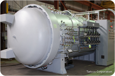 5 ft.- 5 In. Diameter x 14 ft. length Taricco Corporation new autoclave