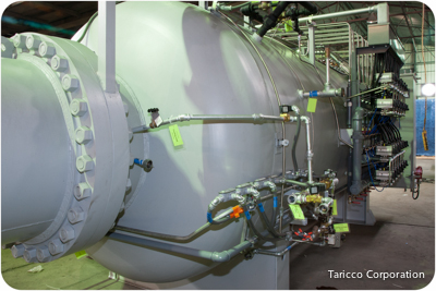5 ft. Diameter x 14 ft. length Taricco Corporation new autoclave